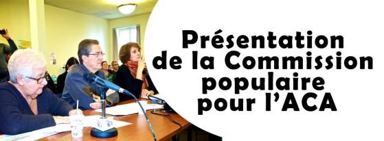 Commission populaire pour l'ACA - 2 novembre